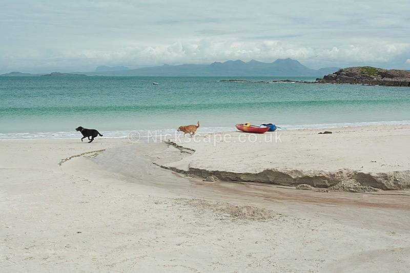 Kayaks at Mellon Udrigle Beach - Wester Ross - Scottish Highlands - Scotland