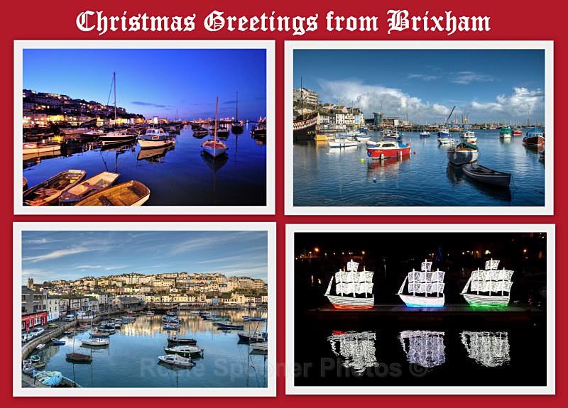 TQ101 - Xmas Card Collage of Brixham - Greetings Cards Brixham and Kingswear