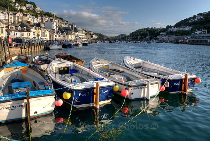 LO 40 - Early summer morning on the River Looe - Greetings Cards Looe