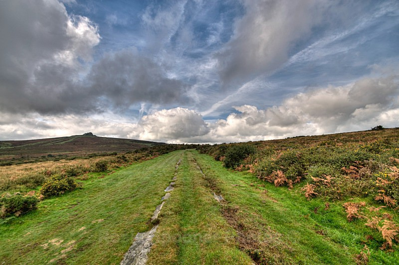Ancient Tramway looking towards Haytor - Dartmoor