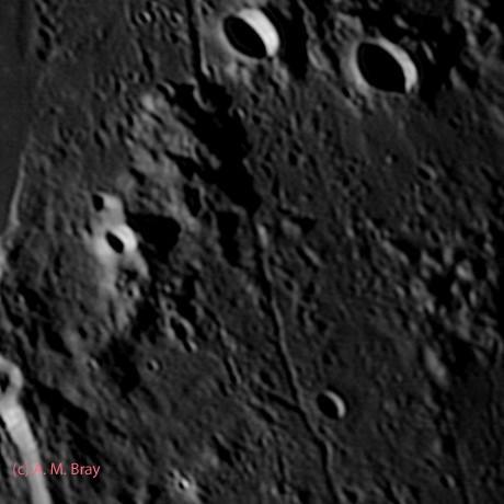 Rima Mersenius - Moon: South West Region