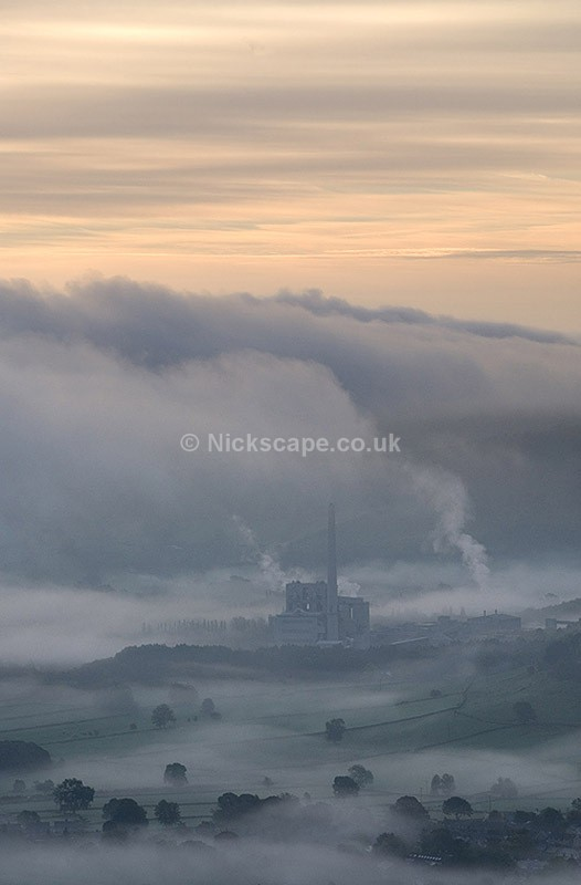 Hope Valley Cement Works from Mam Tor - Derbyshire132 - Peak District Landscape Photography Gallery